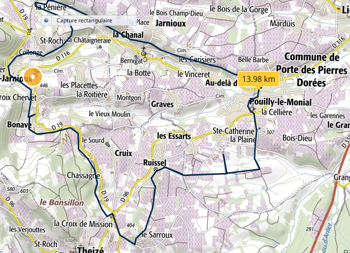 Circuit pouilly ville theize pouilly