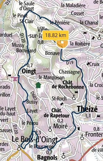 Circuit ville oingt bois d oingt 18 8km 650m 1